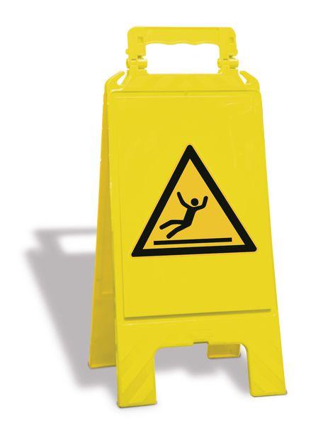 Chevalet de signalisation - Danger, surface glissante - W011
