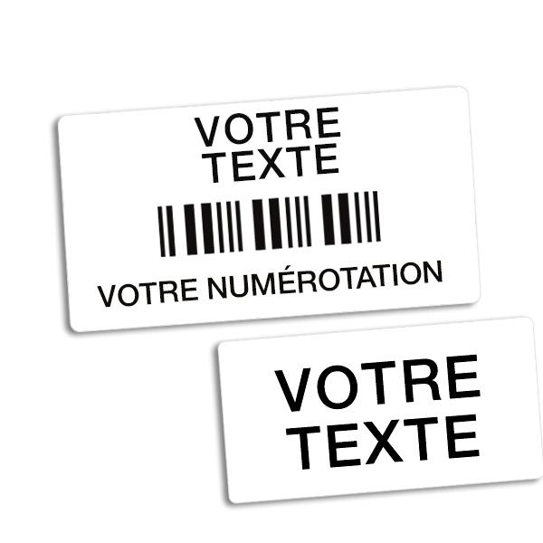 Etiquettes code à barres à forte adhésion