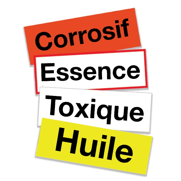 Etiquettes personnalisées pour matières dangereuses