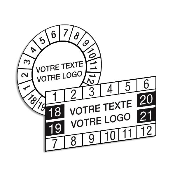 Pastilles calendrier adhésives personnalisées en ligne
