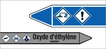 Marqueurs - Etiquettes de tuyauteries