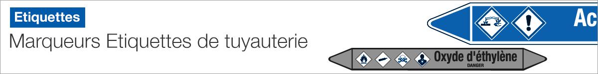 Marqueurs - Etiquettes de tuyauteries |