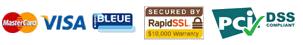 Paiement : MasterCard / VISA / Carte Bleue sécurisé par RapidSSL