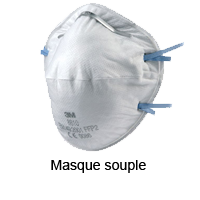 Masque de protection souple