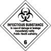 Plaque de transport ADR matières infectieuses n°6-2A