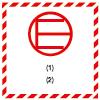Symbole de transport de produits dangereux ADR quantité exceptée QE