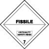 Symbole de transport de produits dangereux ADR matières radioactives n°7-E