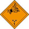 Plaque de transport orange ADR matières et objets explosifs