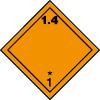 Plaque de transport orange ADR matières et objets explosifs n°1-4