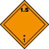 Plaque de transport orange ADR matières et objets explosifs n°1-5