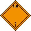 Plaque de transport orange ADR matières et objets explosifs n°1-6
