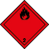 Plaque de transport rouge ADR gaz inflammable n°2-1