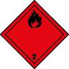 Symbole de transport ADR Gaz inflammables n°2-1