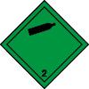 Plaque de transport verte ADR gaz inflammable non-toxiques n°2-2