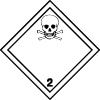 Plaque de transport ADR gaz toxiques n°2-3