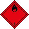 Symbole de transport ADR liquides inflammables n°3
