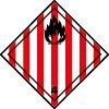 Symbole de transport ADR solide inflammable n°4-1