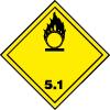 Plaque de transport jaune ADR matières comburantes n°5-1