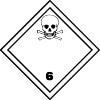 Plaque de transport ADR matières toxiques n°6-1