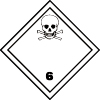 Symbole de transport de produits dangereux ADR toxiques infectieux : matières toxiques n°6-1