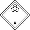 Symbole de transport dangereux ADR toxiques infectieux : matières infectieuses n°6-2