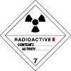 Plaque de transport ADR matières radioactives n°7-A