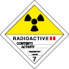 Plaque de transport ADR matières radioactives n°7-B