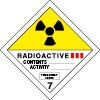 Plaque de transport ADR matières radioactives n°7-C