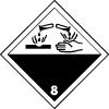 Symbole de transport de produits dangereux ADR matières corrosives n°8