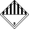 Symbole de transport de produits dangereux ADR matières et objets dangereux n°9