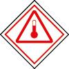 Symbole de transport de produits dangereux ADR produits chauds MD27