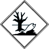 Symbole de transport de produits dangereux ADR danger pour l'environnement NDE