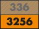 Code matière ONU sur plaque orange