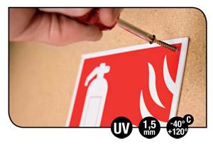 pictogramme incendie ISO 7010 en polypropylène rigide