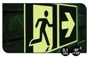 Pictogramme photoluminescent en vinyle flexible