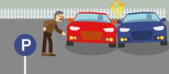 Danger sur le parking de l'entreprise