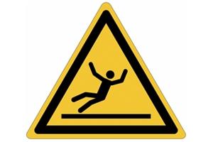 """Panneaux de danger """"Risque de glisser"""""""
