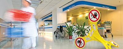balise accès limité hôpital