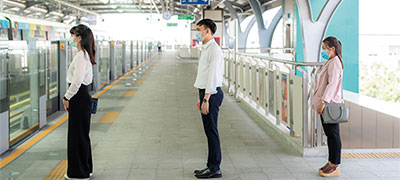 distance sociale métro
