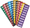 Etiquettes de propriété disponibles en plusieurs coloris