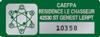 Etiquette de propriété avec logo