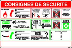 consignes de sécurité incendie et d'évacuation