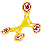 chevalet de signalisation Seton 360 - Accès interdit aux personnes non autorisées