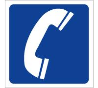 Pictogramme de signalisation Téléphone