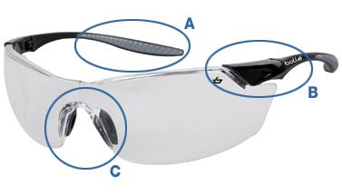 Zoom lunettes de protection