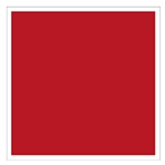 Carré rouge à bordure blanche pour tout signalement lié à la sécurité incendie.