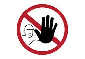 Panneaux et pictogrammes  Accès interdit