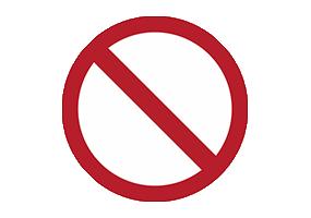 Panneaux et pictogrammes  Autres interdictions