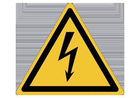Panneaux et pictogrammes de danger électrique