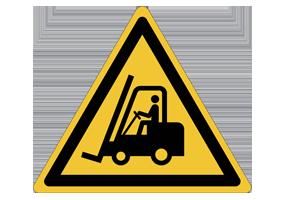 Panneaux et pictogrammes de manutention et chantier pour le signalement de danger